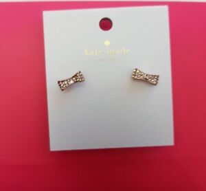 BNWT Authentic Kate Spade Rose Gold Bow Earrings