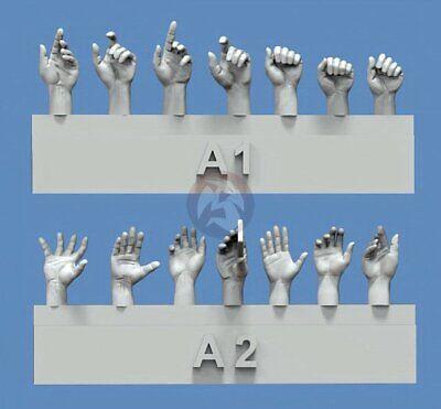 Royal Model 1/35 Assorted Hands Set No.1 (7 Left & 7 Right, different poses) 839 - Model Kit Assortment