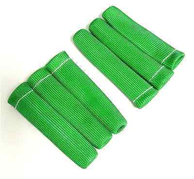 VMS GREEN 6 SPARK PLUG WIRE BOOT HEAT SHIELD PROTECTOR SLEEVE SLEEVING FUEL OIL
