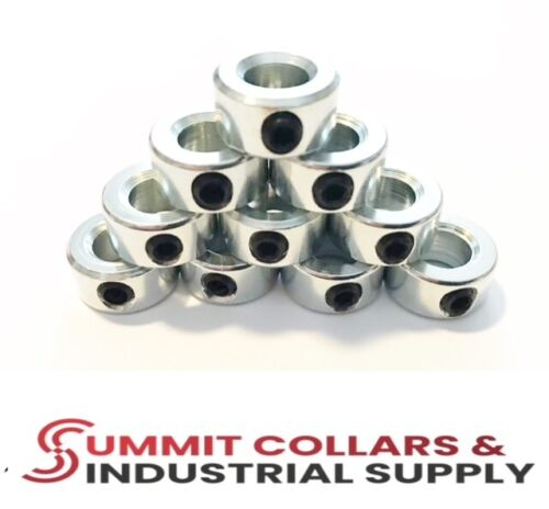 """1"""" Bore ZINC PLATED SET COLLARS (10 Pack) FREE SHIPPING"""