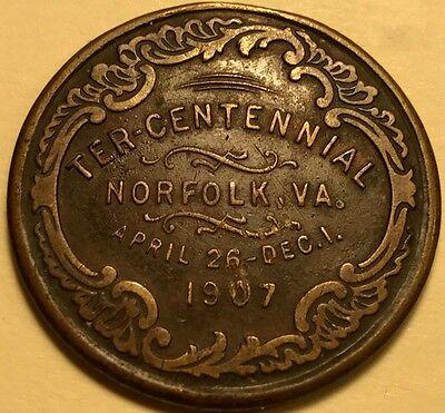Jamestown Tercentennial Expo. - 1907 - So-Called Dollar - HK-349 - Rare Die Pair