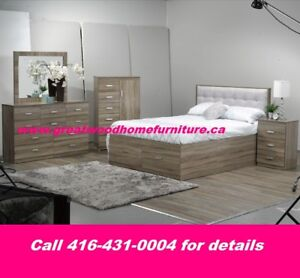 QUEEN SIZE STORAGE BEDROOM SET..$999 ONLY..CHOICE OF COLOR
