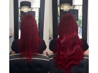 Surrey based mobile hairdresser: Tape extensions, LA weave, Micro extensions & Bonds