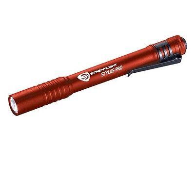 Streamlight Stylus Pro Led - 66120 - Streamlight Stylus Pro LED AAA Pocket Flashlight with holster ~ RED