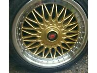 18 inch axe bbs replicas with brand new tyres 5x112 and 5x108