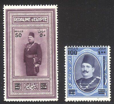 EGYPT #166-67 Mint - 1932 Surcharges Set