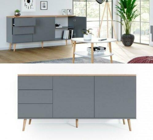 ② Buffet gris scandinave buffet de salon buffet moderne NEUF ...