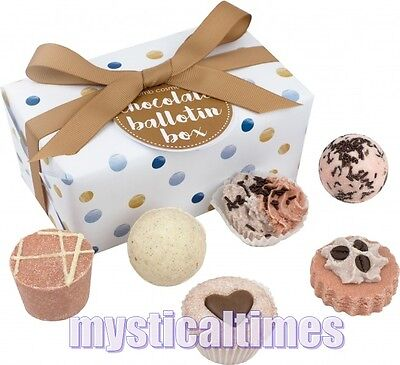 NEW * CHOCOLATE  * BALLOTIN BOMB COSMETICS LUXURY WRAPPED BATH PAMPER GIFT SET
