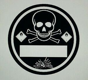 Feinstaubplakette Aufkleber Umweltplakette schwarz 84mm Skrull Totenkopf fun