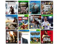 Cash Paid for PS3 PS4 Xbox One & Xbox 360 Games