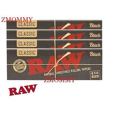 Roll Of Black Paper (6 PACKS OF AUTHENTIC RAW BLACK DOUBLE PRESSED ROLLING PAPER 1 1/4)