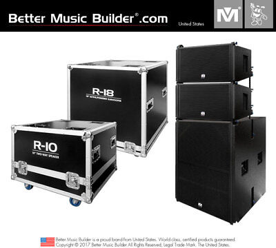 Better Music Builder (M) 2xR-10 2-Way Speaker + 1xR-18 Active/Powered