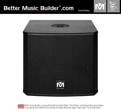 M Karaoke - Better Music Builder DFS-112 SUB Bass Powered Subwoofer 1200W