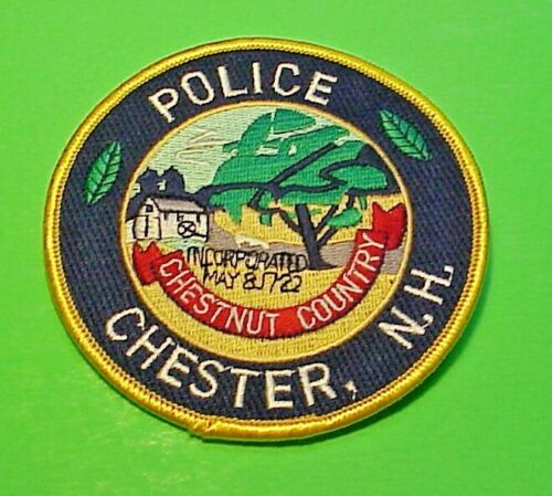 """CHESTER  NEW HAMPSHIRE  NH  4""""  POLICE PATCH   FREE SHIPPING!!!"""