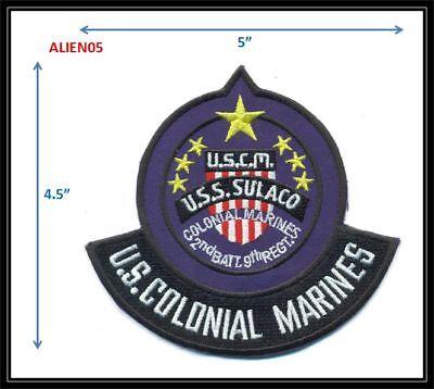 Sulaco USCM Marines Rocker Patch -- ALIEN05