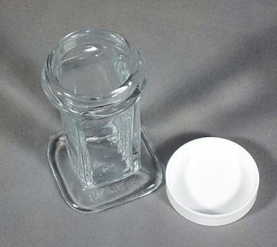Wheaton Glass Coplin Jar With Plastic Screw Cover