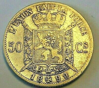 50 cent 1899 Frans  * Z.Fraai  * LEOPOLD II  Belgïe Belgique LA#BFM-66