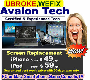 Repair iPhone, iPad, Tablet, Laptop Desktop Smartphones and more