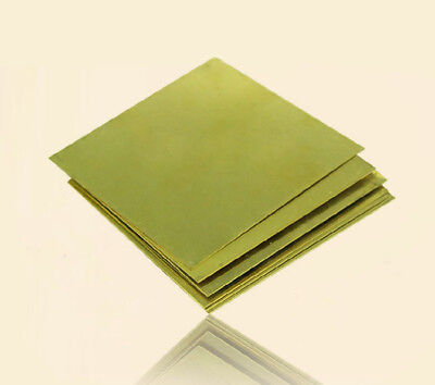H62 Thin Brass Copper Flat Stock Plate Sheets 1.5mm Thickness 10*10cm 4*4inch UK - Copper Sheet Stock