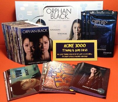 Cryptozoic Orphan Black Season 1 Base Set, 3 Chase Sets, Box & 3x Packs 99 Cards