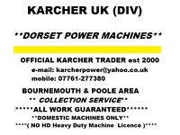 KARCHER PRESSURE / POWER WASHER *REPAIR SERVICE* : COLLECTION SERVICE AVAILABLE . ADVICE /QUOTES: