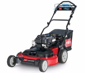 30'' Toro Timemaster Lawnmower - wider than some ride on lawn mowers mulch or collect rideon mower