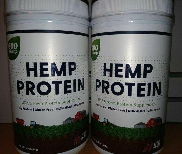 Evo Hemp Protein Powder,Hemp Hearts, Plant Based Protein 16 oz (11/20) (2 Pack)