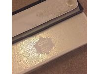 GHD Arctic Gold Curve Gift Set Curl Tong & Roll Bag (RRP +£120)