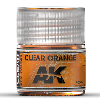 AK Interactive #AKI-RC506 Real Colors:Clear Orange Acrylic Lacquer (Orange Acrylic Lacquer)