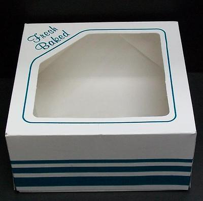 Lot Of 10 Bakery Window Boxes 6 X 6 X 3 - White Fresh Baked
