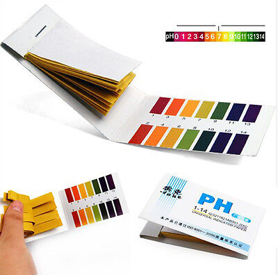 1xlaboratory 80 Ph Indicator Test Strips 1-14 Paper Litmus Tester Urinesaliv Ih