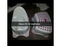 Potty and step stool NEW £5