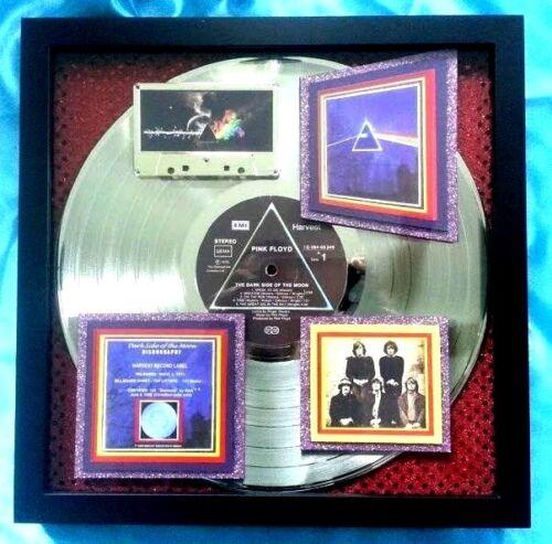 "PINK FLOYD:  ""DARK SIDE OF THE MOON""  Platinum AWARD + 73 Concert Flyr Framed"