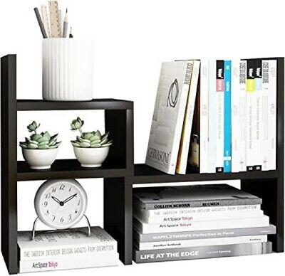Jerry Amp Maggie - Desktop Organizer Office Storage Rack Adjustable Wood Shelf
