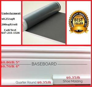 Laminate Floor Underlayment Underpad Baseboard Shoe Mold Trim
