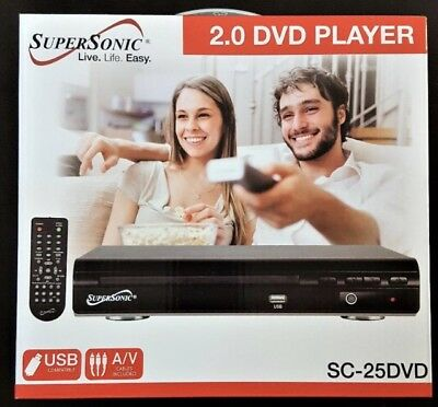 BRAND NEW Supersonic Region Free DVD Player with USB/AVI/Divx/MP3/CD