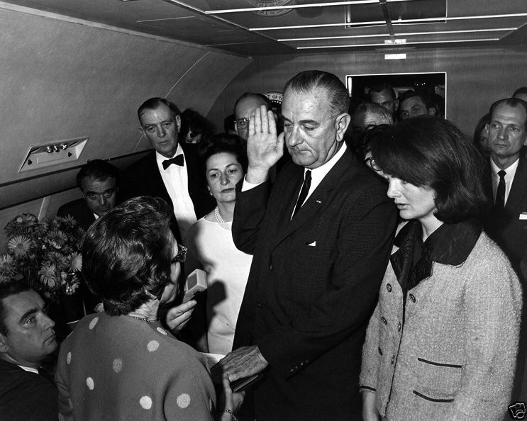Lyndon Johnson takes Oath of Office after JFK assassination New 8x10 Photo