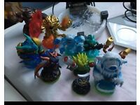 Disney Infinity and Skylander characters and bases for XBox 360