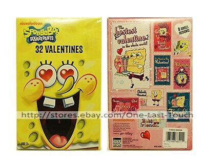 SPONGEBOB SQUAREPANTS* 32 Valentines Day Cards NICKELODEON 8 Swell Designs 1/10 - Spongebob Valentines
