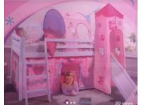 Wooden Cabin bed with detachable princess tents