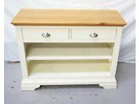 Cream & Oak side cabinet * free furniture delivery *