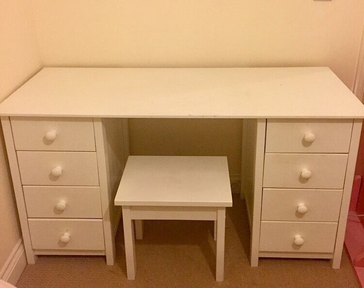 Argos Scandinavia White Wood Dressing Table With Drawers