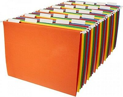 Amazonbasics Hanging File Folders Letter Size 25 Pack Assorted Colors