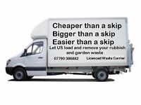All waste, rubbish, household clutter, garden waste collected and removed, skip hire