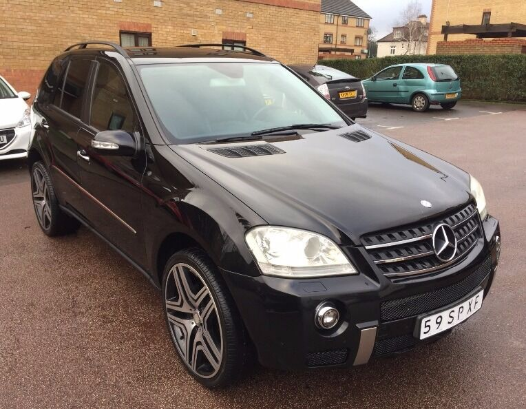 lhd left hand drive mercedes ml 320 cdi 4matic 4x4 black 2006 automatic 22inch full amg pack. Black Bedroom Furniture Sets. Home Design Ideas