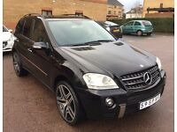 LHD LEFT HAND DRIVE MERCEDES ML 320 CDI 4MATIC 4X4 BLACK 2006 AUTOMATIC 22INCH FULL ML63 AMG PACK