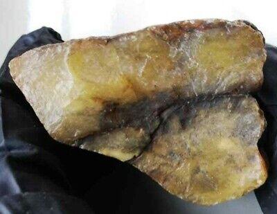 Amber Yellow White raw Baltic stones Pendant 31.4gr Royal Aquarium Necklace Matt