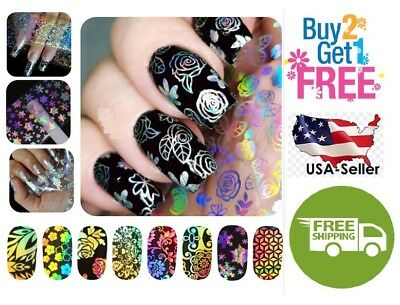 54 Colors Holographic Glitter Foil Nail Art Transfer *BUY 2 GET 1 FREE*