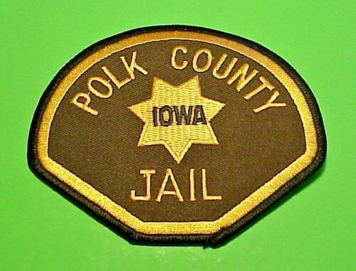 "POLK COUNTY IOWA  JAIL  3 3/4""  POLICE PATCH  FREE SHIPPING!!!"