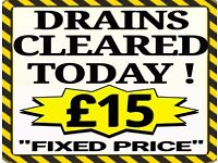 """£15""(No More-No Less) ""£15""Fixed Rate ""£15"" (ALL) Blocked Drain &Toilets*Plumbing*See List Below"